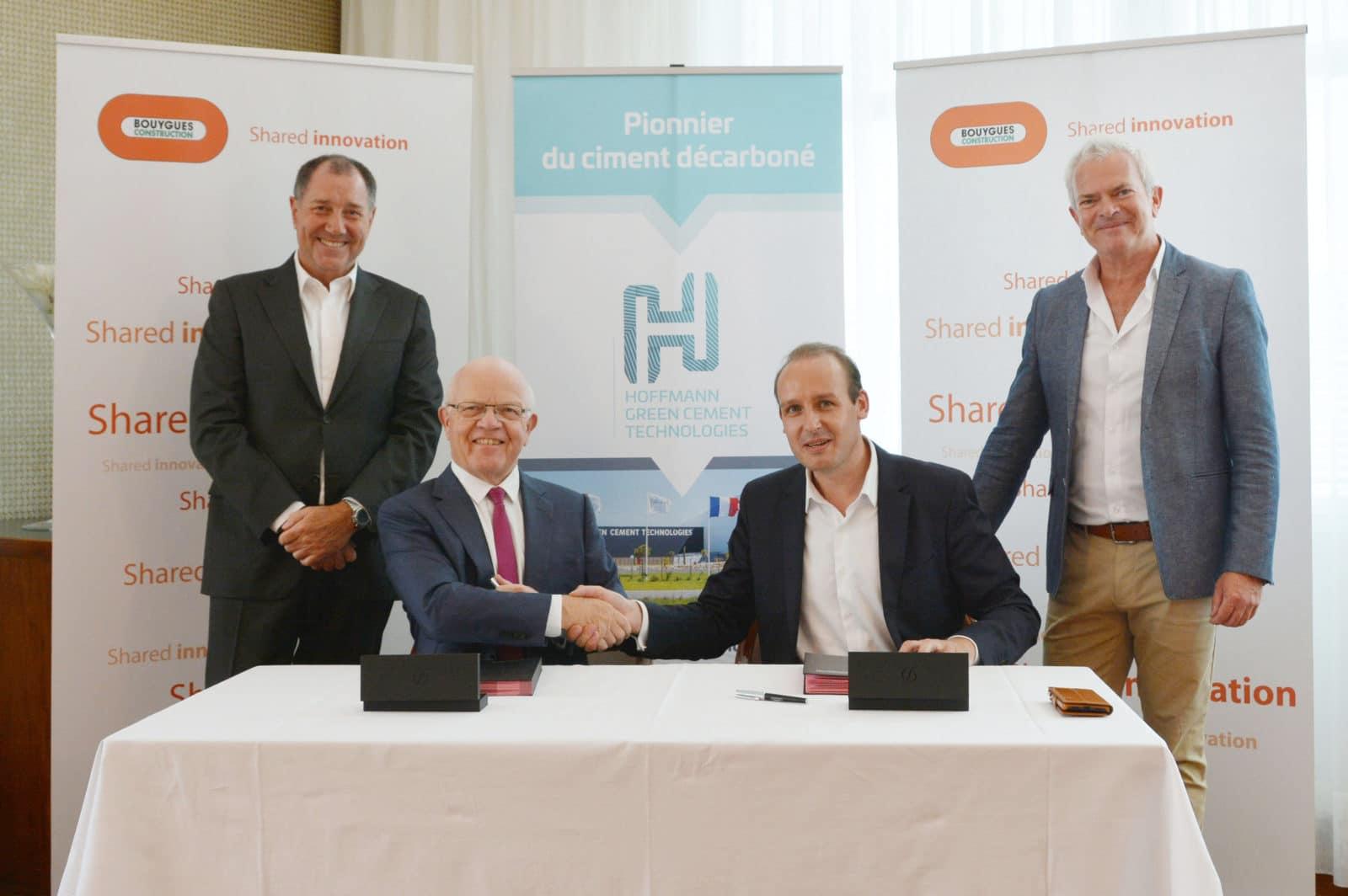Signature Partenariat Bouygues Constructions - Hoffmann Green