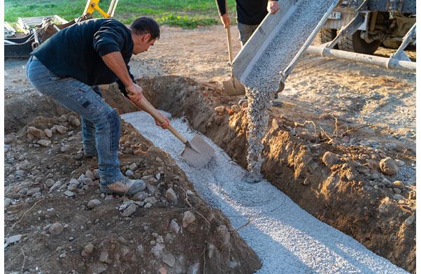 fondations ciment