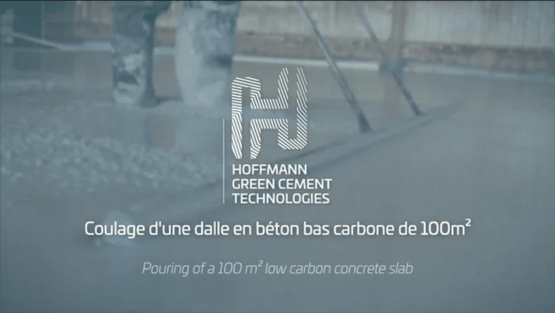 Coulage dalle H-UKR de 100m² Pouring of a 100m² low carbon concrete slab