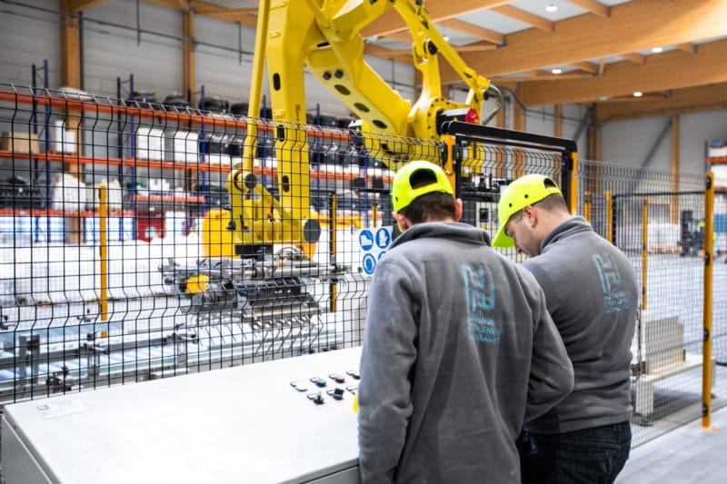 Déploiement de notre ligne d'ensachage et installation de notre robot de palettisation